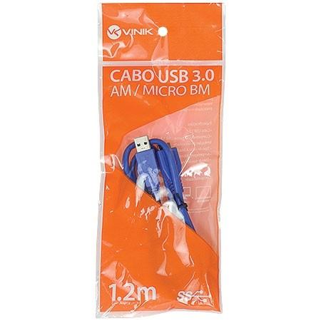 Cabo USB 3.0 a Macho X Micro USB B Macho 1.2M U3AMBMC-2 Vinik 23569
