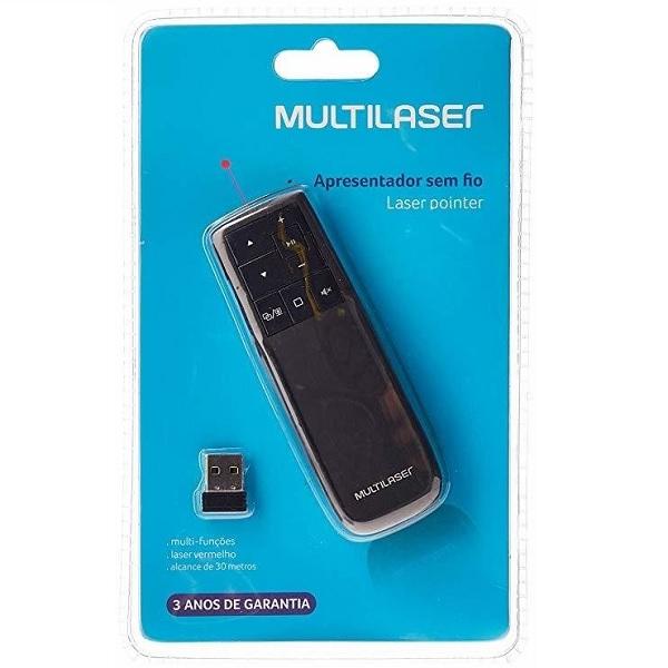 Apresentador Multimi�dia Laser Point sem Fio 2.4GHZ Vermelho AC291 Multilaser