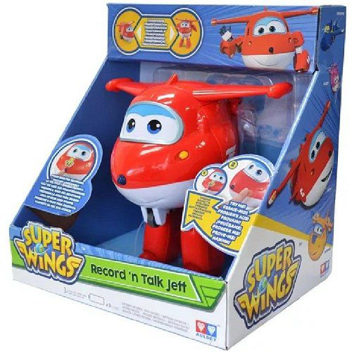 Aviao Super WINGS JETT Grava e Fala INTEK YW711410 8241-6