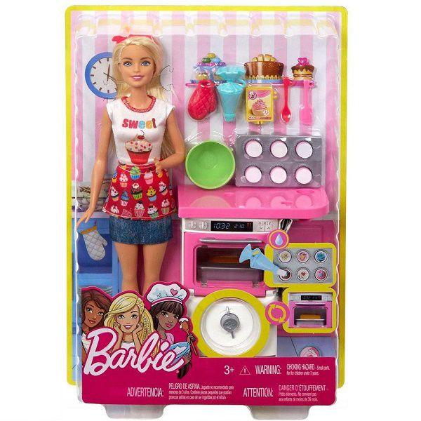 Barbie Cozinhando e Criando Chefe de Bolinhos Mattel FHP57
