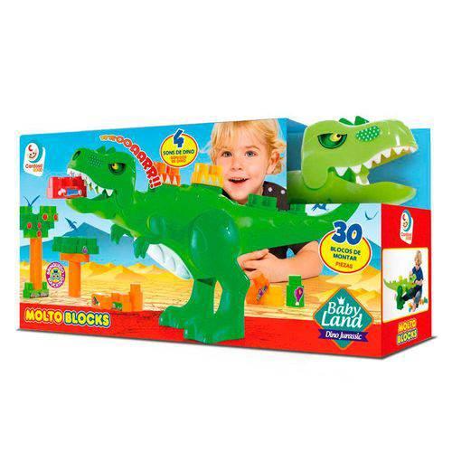 Blocos de Montar BABY LAND Dino Jurassico Cardoso TOYS 8001