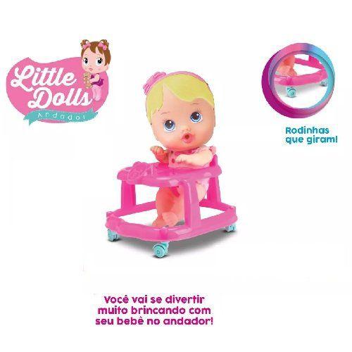 Boneca BABY Andador Little DOLLS Loira Divertoys 8009