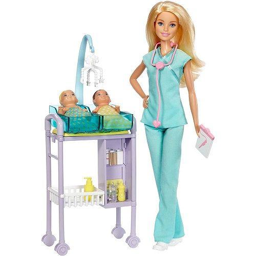 Boneca Barbie Profissoes Conjunto Pediatra Mattel DHB63/DVG10