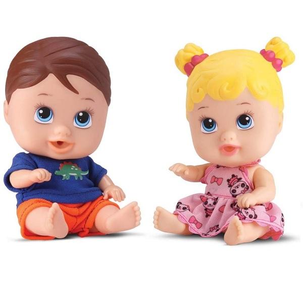 Boneca Bebe Little DOLLS Gemeos Divertoys 8037