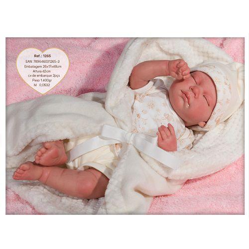 Boneca Bebe Reborn Bege BABY BRINK 1265