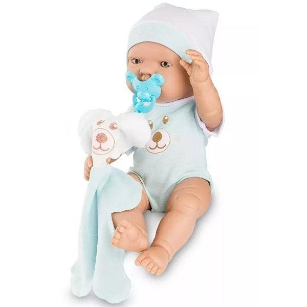 Boneca Bebezinho Real AZUL Roma 5681