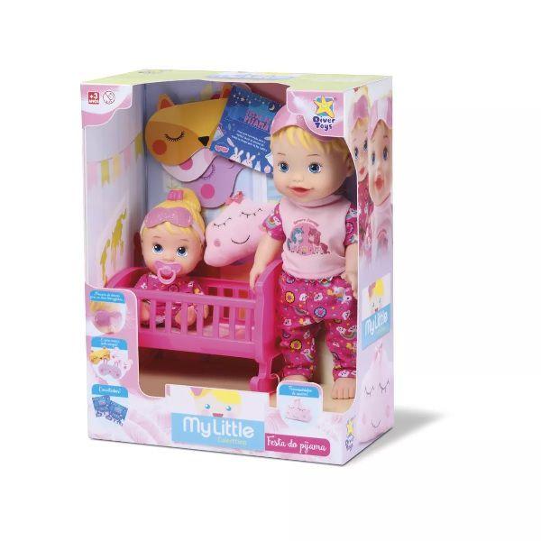 Boneca Little DOLLS Brincando de Pijama Divertoys 8030