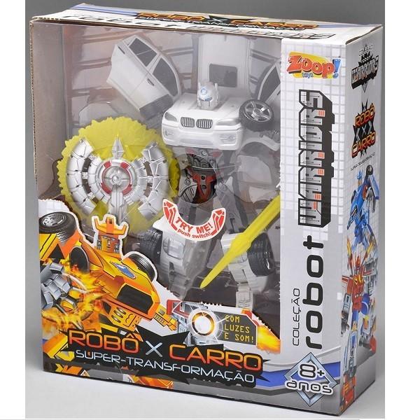 Boneco Coleçao Robot Warriors Branco ZP00173