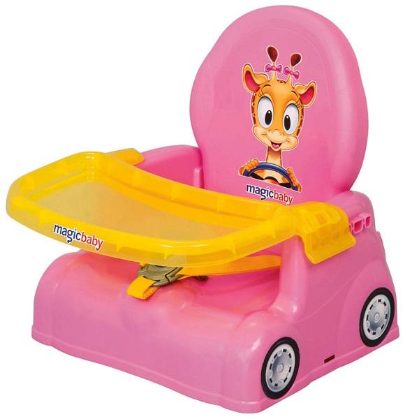 Cadeira de Papinha Rosa Girafa Magic TOYS 4777