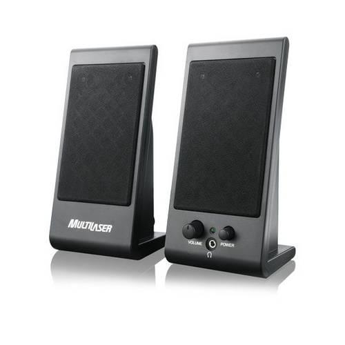 Caixa de Som 3W RMS USB Preto FLAT Multilaser SP009