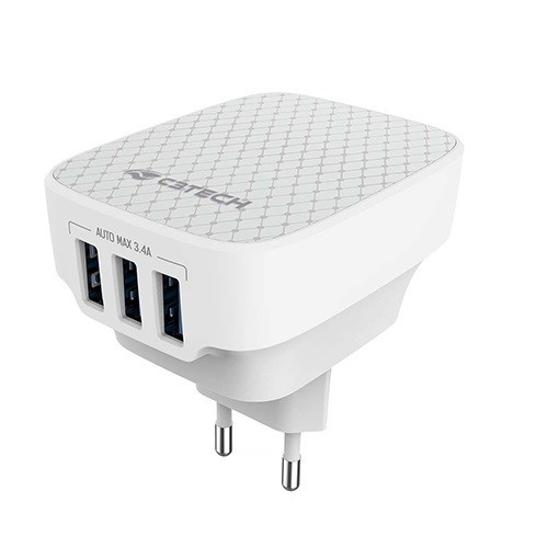 Carregador USB Universal C3 TECH UC-340WH