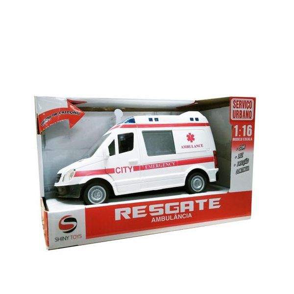 Carrinho de Ambulancia SHINY TOYS 432