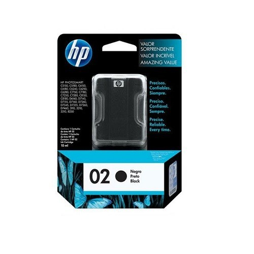Cartucho HP 02 Preto C8721WL 10ML
