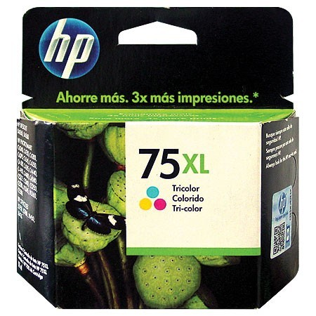 Cartucho HP 75XL Jato de Tinta Tricolor 17ML CB338WB
