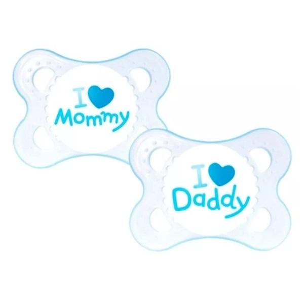 Chupeta MOM e DAD BOYS 0-6 Meses MAM 2931 2 Unidades