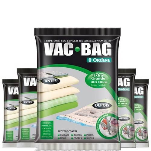 Combo: 5 Saco a Vácuo Protetor VAC BAG 80 X 100 Ordene EXTRA Grande