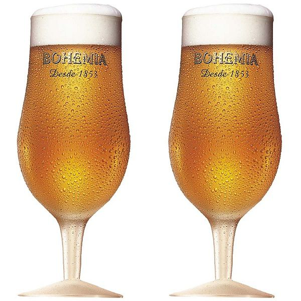 Conjunto com 2 Taças Bohemia Pilsen em Vidro para Cerveja 380ML Globimport