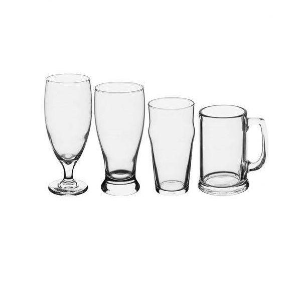 Conjunto com 4 Copos de Vidro para Cerveja Artesanal Libbey Globimport