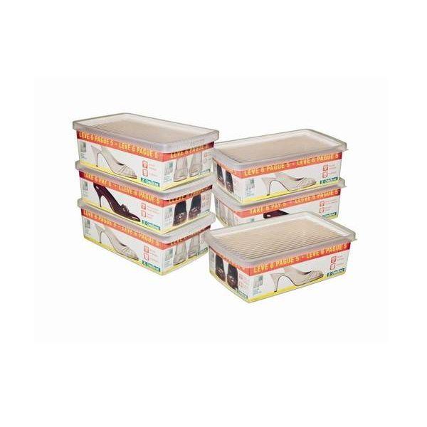 Conjunto de Caixa para Sapatos Media - Leve 6 Pague 5 - Ordene OR60250