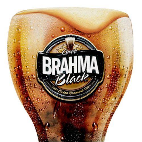 Conjunto de Copos Brahma BLACK em Vidro para CHOPP 2PÇS 430ML Globimport
