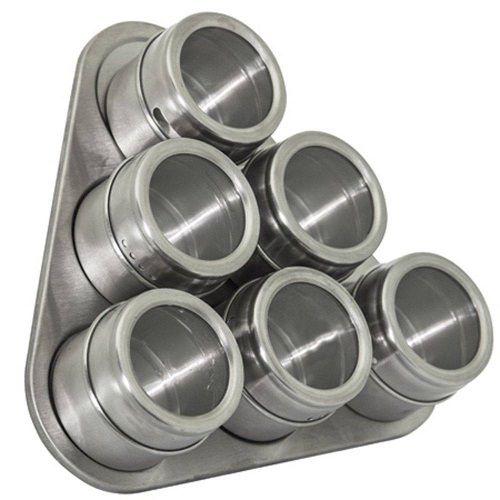 Conjunto de Porta Condimentos em INOX 6 Potes com IMA Mimo STYLE AL1402 5022