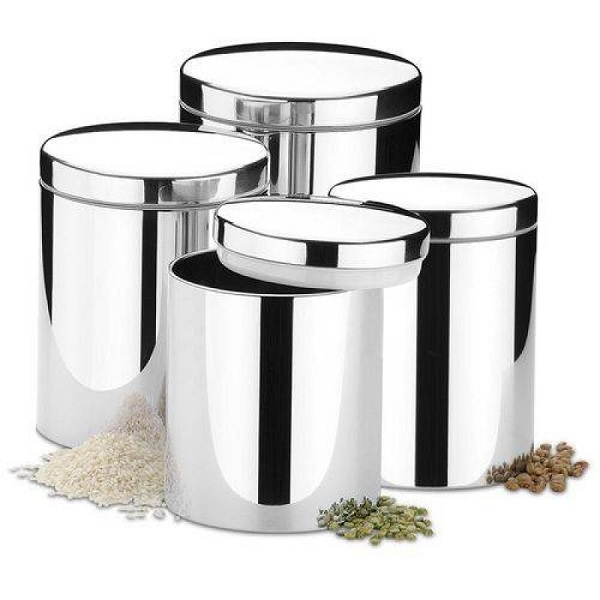 Conjunto de Potes para Mantimentos com Tampa 4 Peças Brinox 2100/103