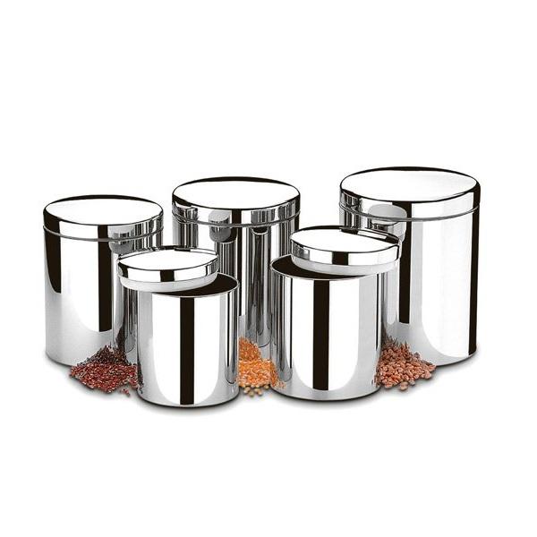 Conjunto de Potes para Mantimentos em AÇO INOX 5 Peças Brinox 2100/101