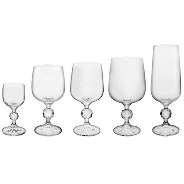 Conjunto de Taças 30 Peças em Cristal Claudia Bohemia 57685
