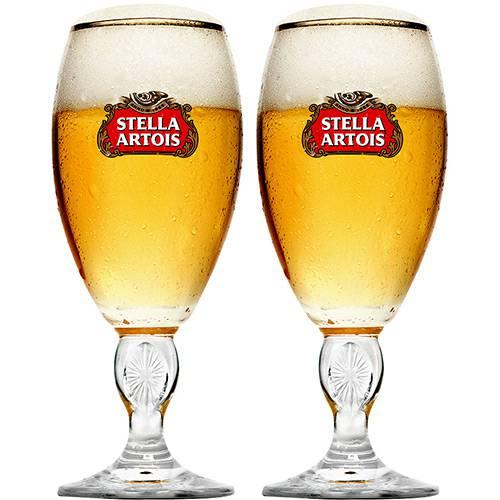 Conjunto de Taças Stella Artois em Vidro para Cerveja 2PÇS 250ML Globimport