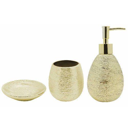 Conjunto para Banheiro Lunar Dourado Mimo STYLE BH1779D 5997