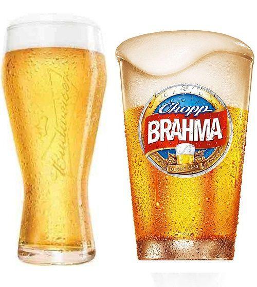 Copo Budweiser + Copo CHOPP Brahma Globimport