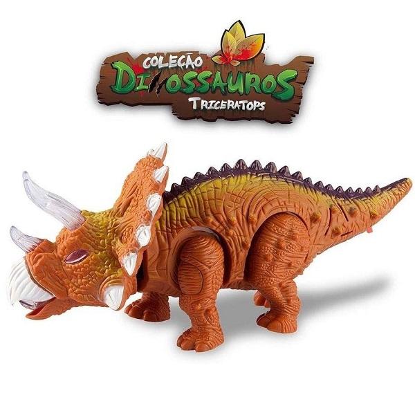 Dinossauros Triceratops Marrom Zoop TOYS ZP00397