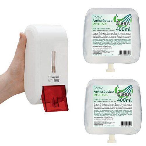 Dispenser Compacta  Alcool SPRAY + 2 SPRAY Antisseptico Premisse