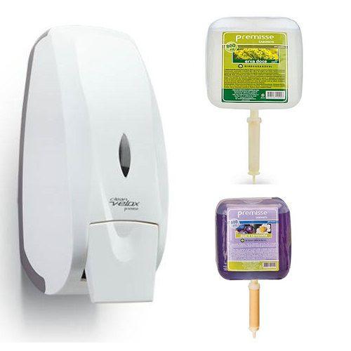 Dispenser Saboneteira Velox + 2 Sabonetes Liquidos Premisse