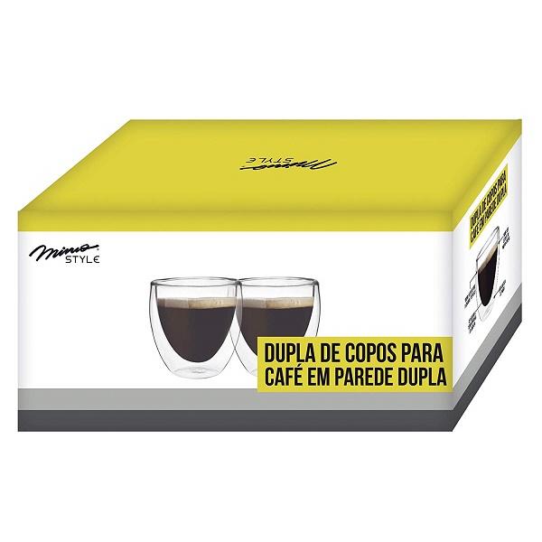 Dupla de Copos para Cafe Parede Dupla 80ML TCJ1843 6138 Mimo STYLE
