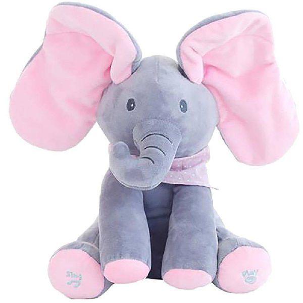 Elefante de Pelucia com Movimento Interativo SHINY TOYS 428