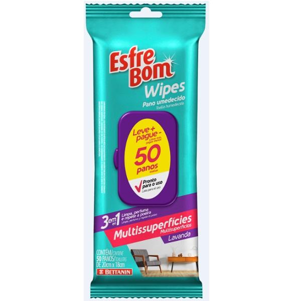 Esfrebom Wipes Multiuso 50 Panos Bettanin BT4683