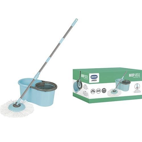 Esfregao MOP Limpeza Pratica com Balde Esfregao 1 Refil MOR 008298