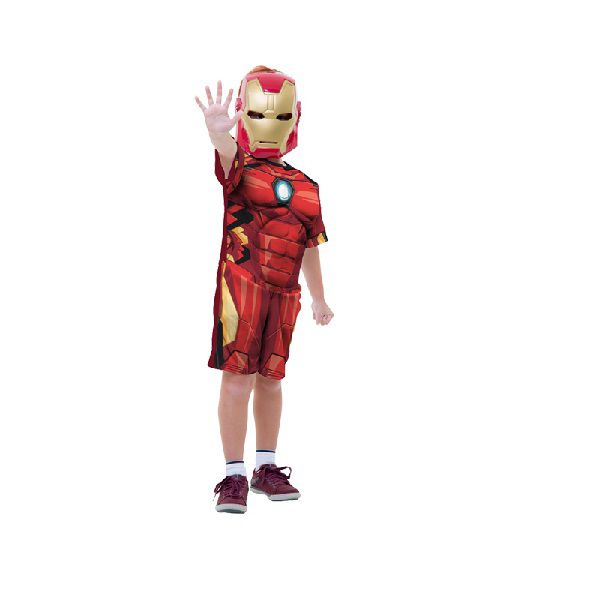 Fantasia Infantil Curta Homem de Ferro Classico P Global Fantasias 400003