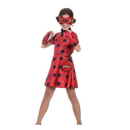 Fantasia Infantil Ladybug Vestido M Sulamericana 35404000003