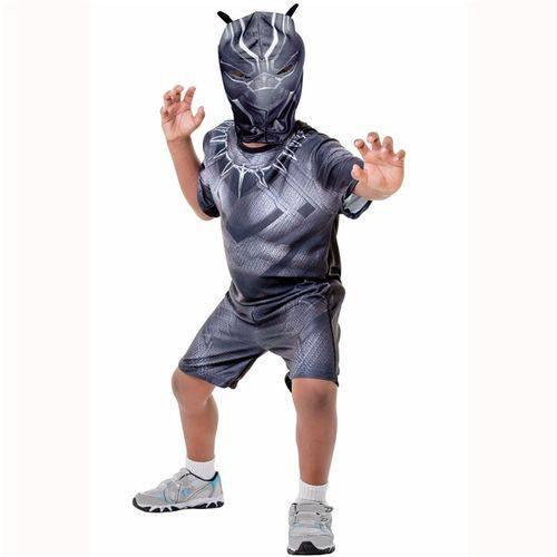 Fantasia Infantil Pantera Negra Curta Guerra Civil TAM P Rubies 00118500003