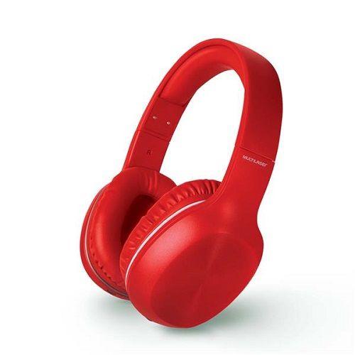 Fone de Ouvido Headphone POP Bluetooth P2 Vermelho Multilaser PH248