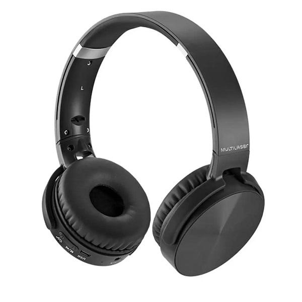 Fone de Ouvido Headphone Premium Bluetooth SD/AUX/FM Preto Multilaser PH264
