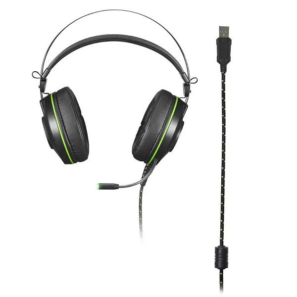 Fone de Ouvido Headset Gamer 7.1 Warrior Raiko Multilaser PRETO/VERDE PH259
