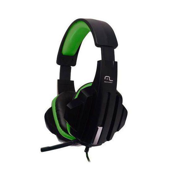 Fone de Ouvido Headset Gamer P2/CABO NYLON Multilaser Verde PH123