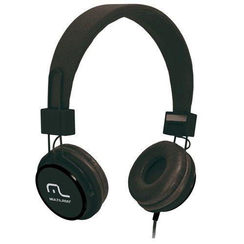 Fone de Ouvido Multilaser Headfun HI-FI com Microfone PH115 Preto