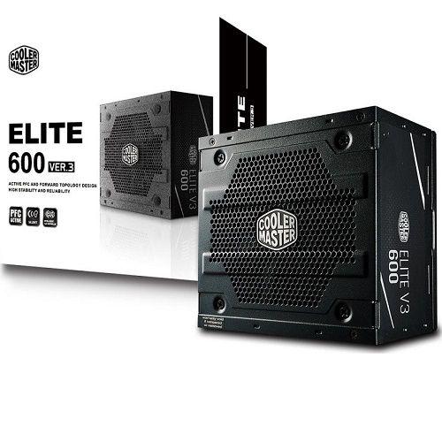 Fonte ATX Cooler Master Elite V3 600W PFC Ativo MPW-6001-ACAAN1-WO
