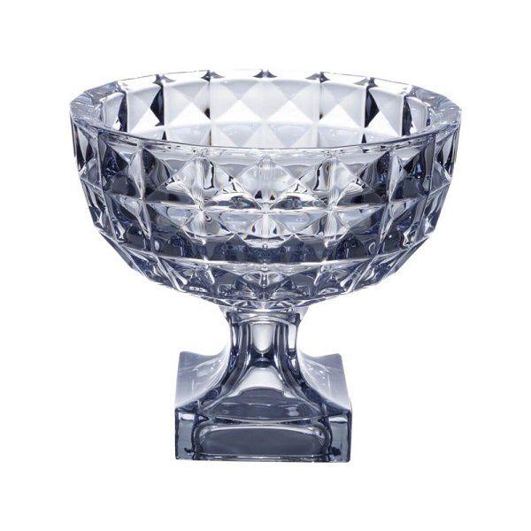 Fruteira de Mesa de Cristal com PE Diamant AZUL WOLFF 26056