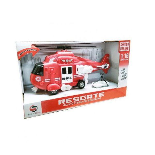 Helicoptero de Resgate com LUZ e Som SHINY TOYS 434