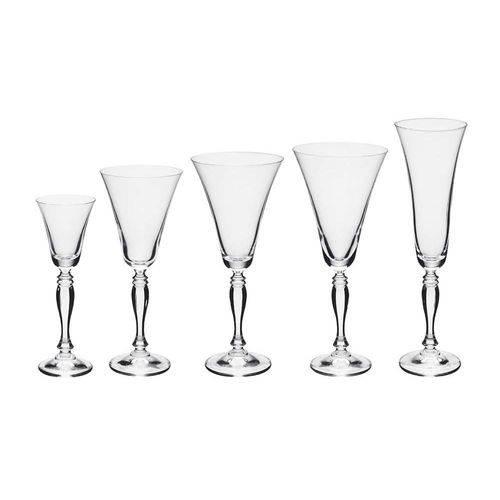 Conjunto de Taças 30 Peças em Cristal Victoria Bohemia 56696